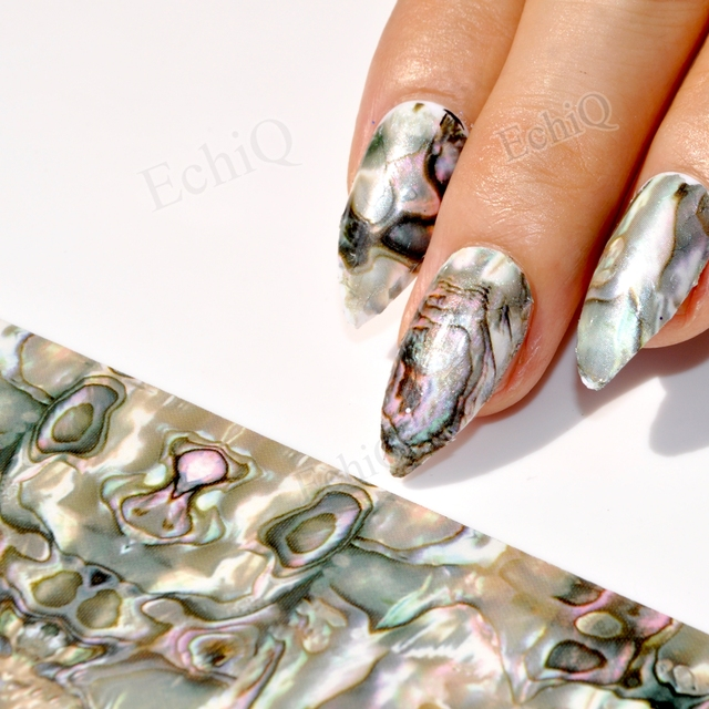 Aliexpress Buy Holographic Nail Sticker Gradient Marble