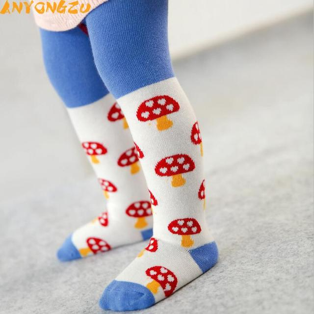 9e2cb06eb Cotton Knitting Baby Tights Girls Boys Cartoon Tights Toddler Stockings  Pantyhose Children Clothes Antiskid mushroom design