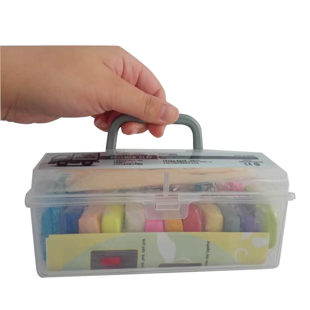 24 cores argila de polímero diy macio