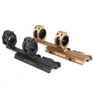 Image 1 - 25.4 30mm 퀵 릴리스 듀얼 링 스코프 마운트 전술 캔틸레버 빠른 분리 라이플 Picatinny Rail Airsoft Hunting Accessories