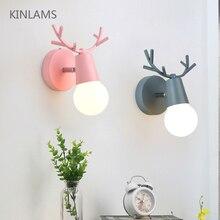 Éclairage de la chambre enfant, lumière de la chambre, réglable nordique avec motifs de dessin animé coloré, organiseur de lecture de la chambre, E27