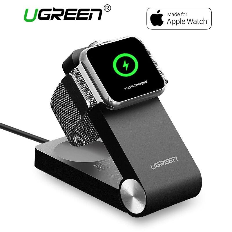 Ugreen Беспроводной Зарядное устройство для Apple Watch Зарядное устройство складной Сертификация Apple MFi Зарядное устройство с 1,2 м кабель для 38 мм и...