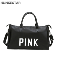 2018 letters Print Black Women Men Gym Bag Fitness Shoulder Strip Travel Bag Outdoor Yoga Bag Sac De Sport Cheap High Quality
