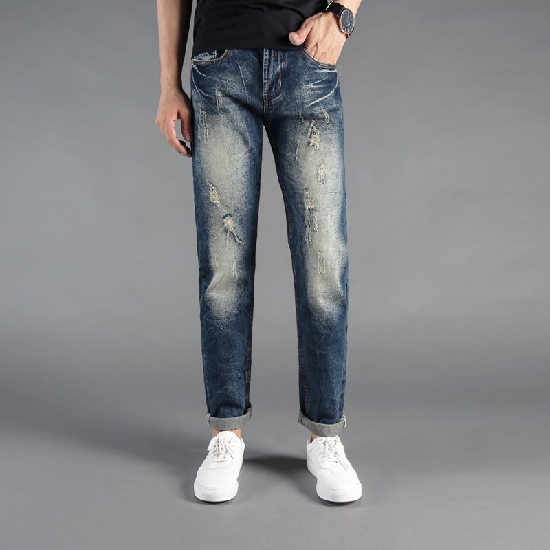 2018 Fashion Men's Jeans Vintage Designer Slim Fit Ripped Jeans High Quality Denim Pants Famous Dsel Brand Classical Jeans Men сувенир акм браслет деревянный средний 104 2212 page 3