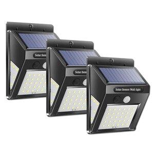 Image 2 - Güneş bahçe lambası 100 LED güneş enerjili PIR hareket sensörü lambası su geçirmez dış mekan aydınlatma dekorasyon ışıkları kablosuz duvar lambası