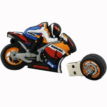 Cartoon motorrad usb flash drive 64 GB 32 GB 16 GB 4 GB reale kapazität memory stick motorrad stift stick schöne geschenk-stick