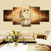 Hand Painted figure Oil Painting nude couple wild lover Pictures On Canvas wall Paintings For Living Room Decor Canvas Craft