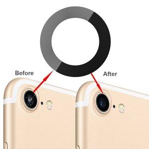 Image 5 - OEM Zurück Hintere Kamera Glas Objektiv Abdeckung Ersatz Kompatibel für iPhone 8 und iPhone 7 Original mit Klebstoff und Reparatur werkzeuge
