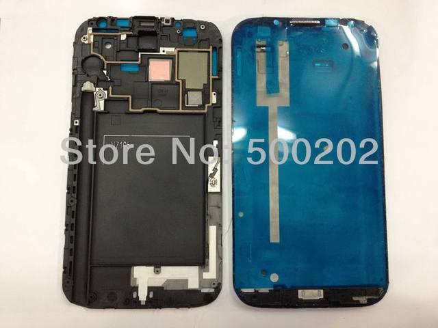 Nueva Original para Samsung Galaxy Note 2 nota II N7105 carcasa frontal del bisel del capítulo capítulo Plate Frame medio genuino marco de la pantalla