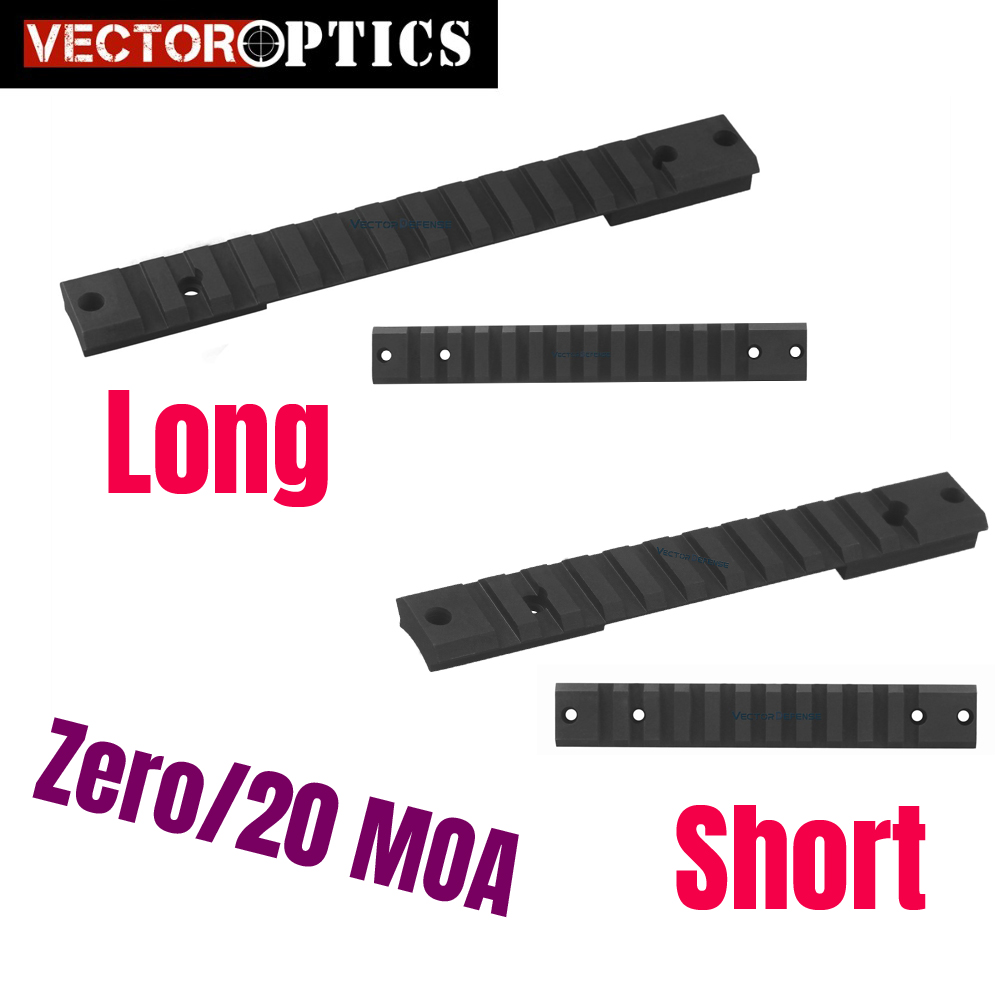 Vector Optics Remington MOA Steel Picatinny Rail Mount Long Short Action Tactical Fit Rem Ruger 10