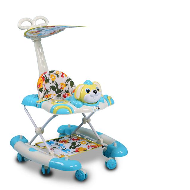 Recién Lanzado Andador Anti Vuelco Multifuncional 7-18 Meses de Bebé Caminante Con Música Placa de Luz Portátil Bebé Vespa