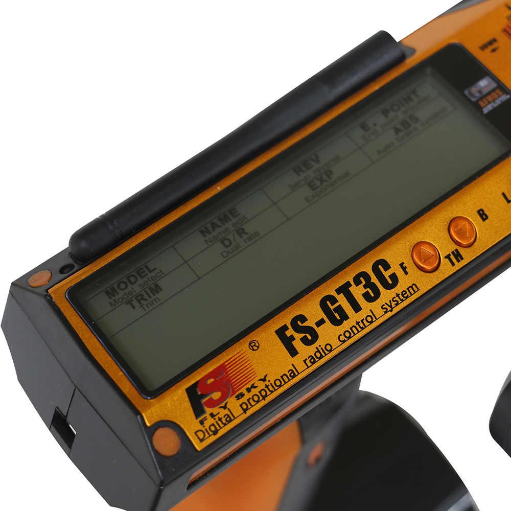Летать небо FS-GT3C 2,4 GHz 3-канальный блок питания с передатчиком с GR3E приемник для RC автомобилей Лодка Радио передатчик контроллера с приемником