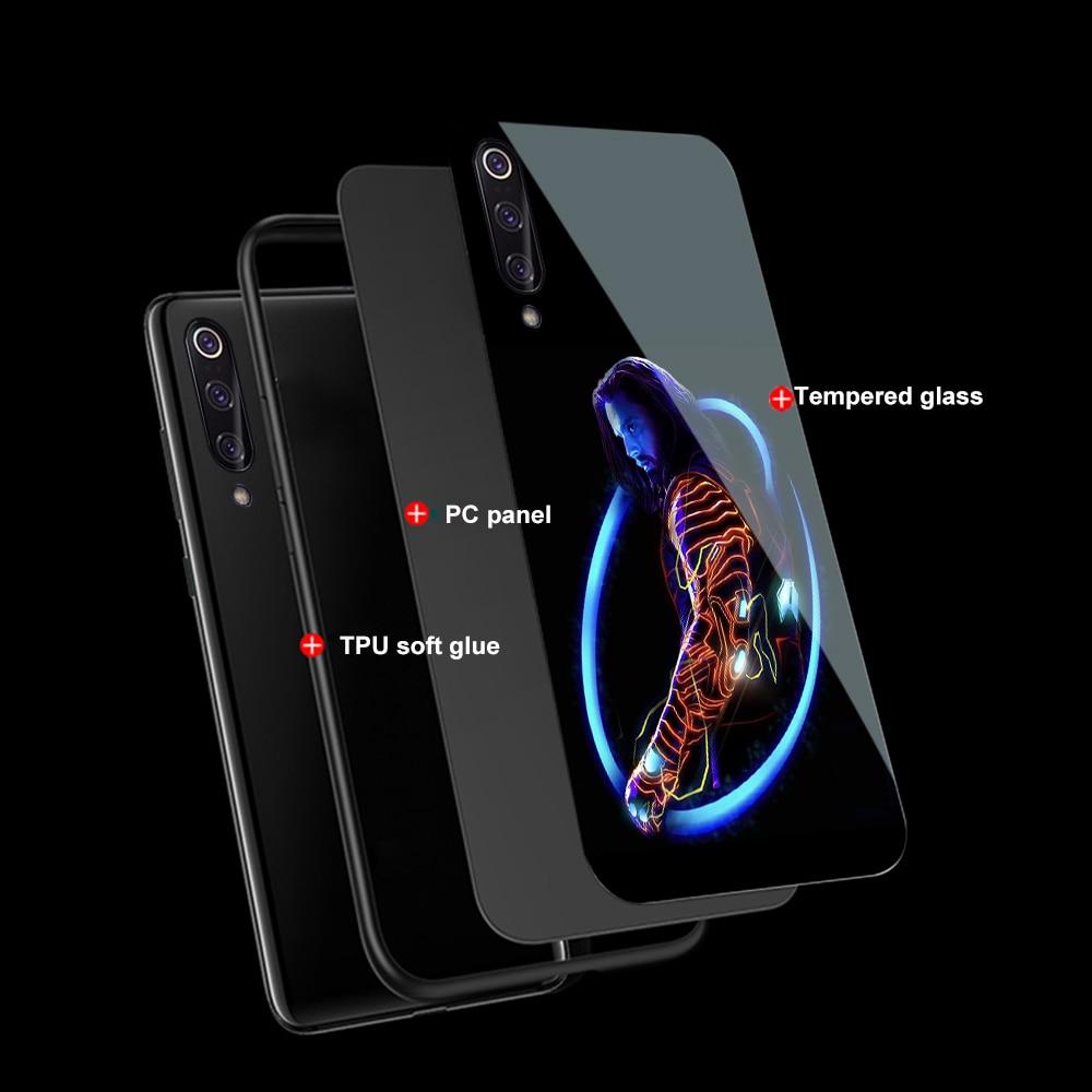 Image 3 - Ciciber Marvel Железный человек для Xiaomi mi 9 8 A2 6X mi X 2 2S PocoPhone F1 стеклянные чехлы для телефонов для Red mi Note 7 6 Pro Plus Cover Capa-in Подходящие чехлы from Мобильные телефоны и телекоммуникации