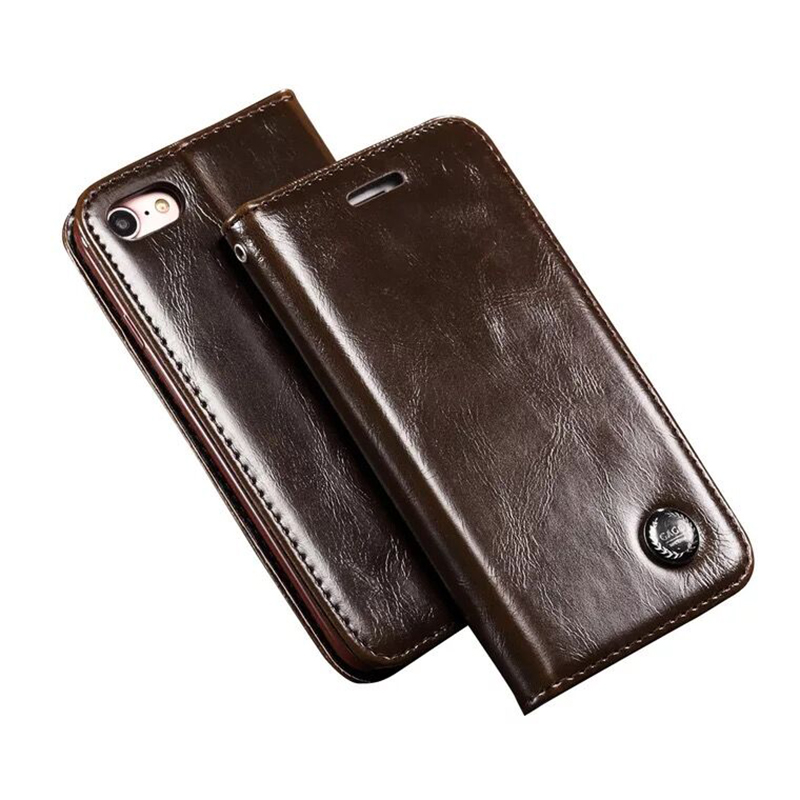 For iPhone X 8 7 Plus 6 6s Plus 5s Case For Samsung Galaxy S9 S8 Plus Genuine Leather Stand Flip Wallet Case For iPhone 8 7 Bag