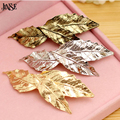 JINSE HCS025 New Fashion Vintage Elegant Leaves Hair Accessories For Women Gold/Sliver/Copper Color  Barrettes Hair Clip Jewelry