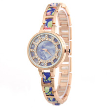 Geneva Gold Watches Women Top Luxury Band China Style Ceramic Quartz watch For Women Dress Bracelet Casual Fashion Wristwatches