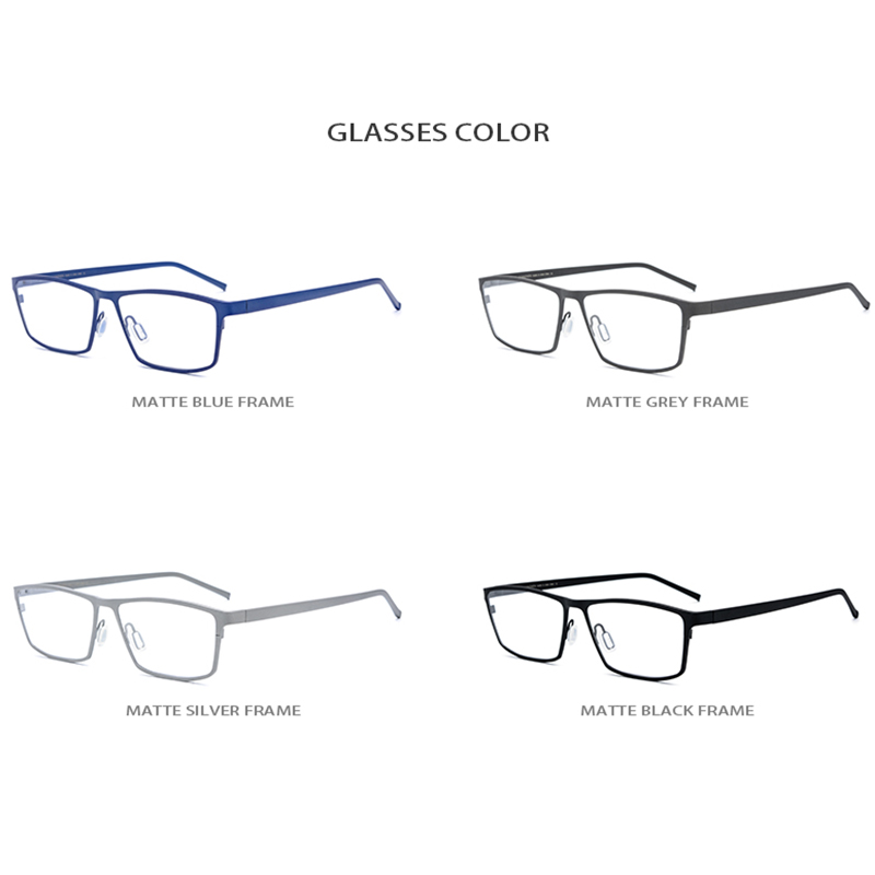 Image 5 - Pure Titanium Eyeglasses Frame Men Square Myopia Optical Frames Eye Glasses for Men Vintage Ultra Light Spectacles Eyewear 1170-in Men's Eyewear Frames from Apparel Accessories