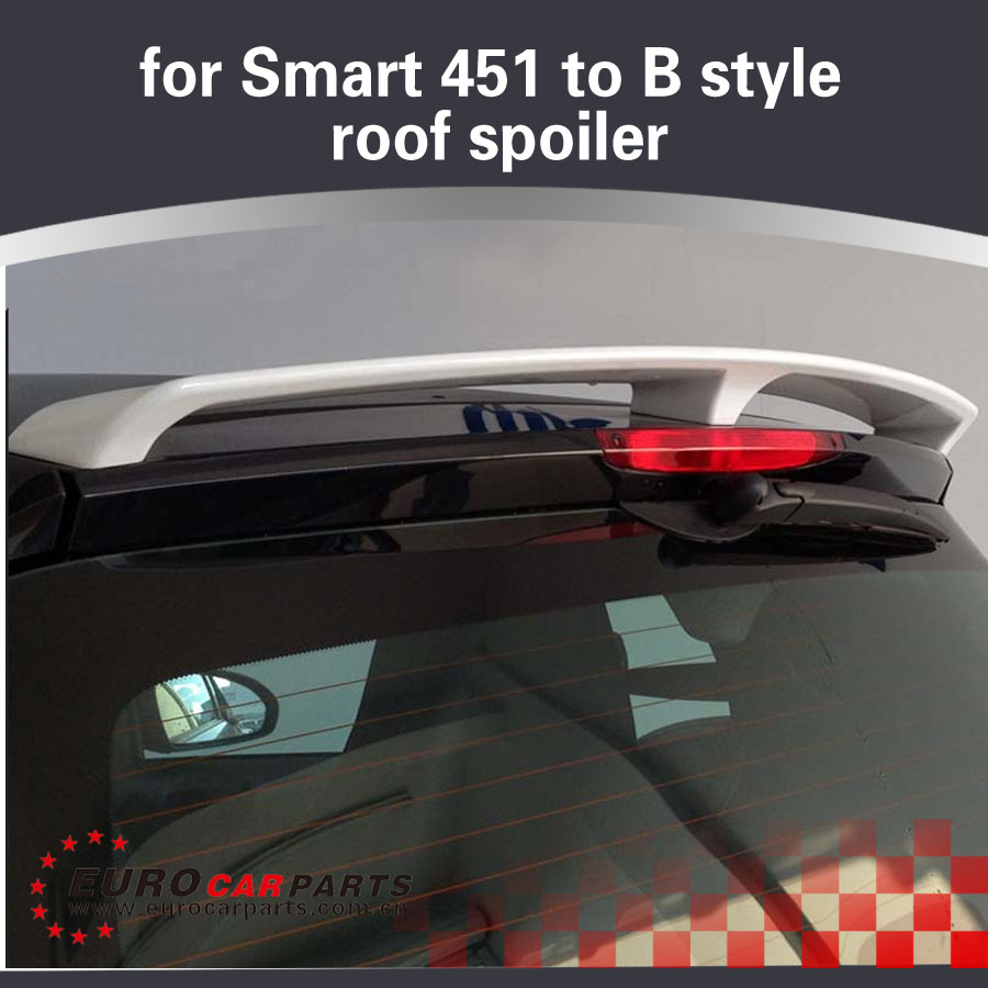 Pu smart rear wing fit for smart all year to b style pu material roof spoiler without color