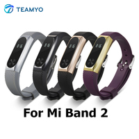 Teamyo Fashion Xiaomi Mi Band 2 Strap Replacement Wrist strap + Metal Case Smart Bracelet Accessories For Xiomi band 2