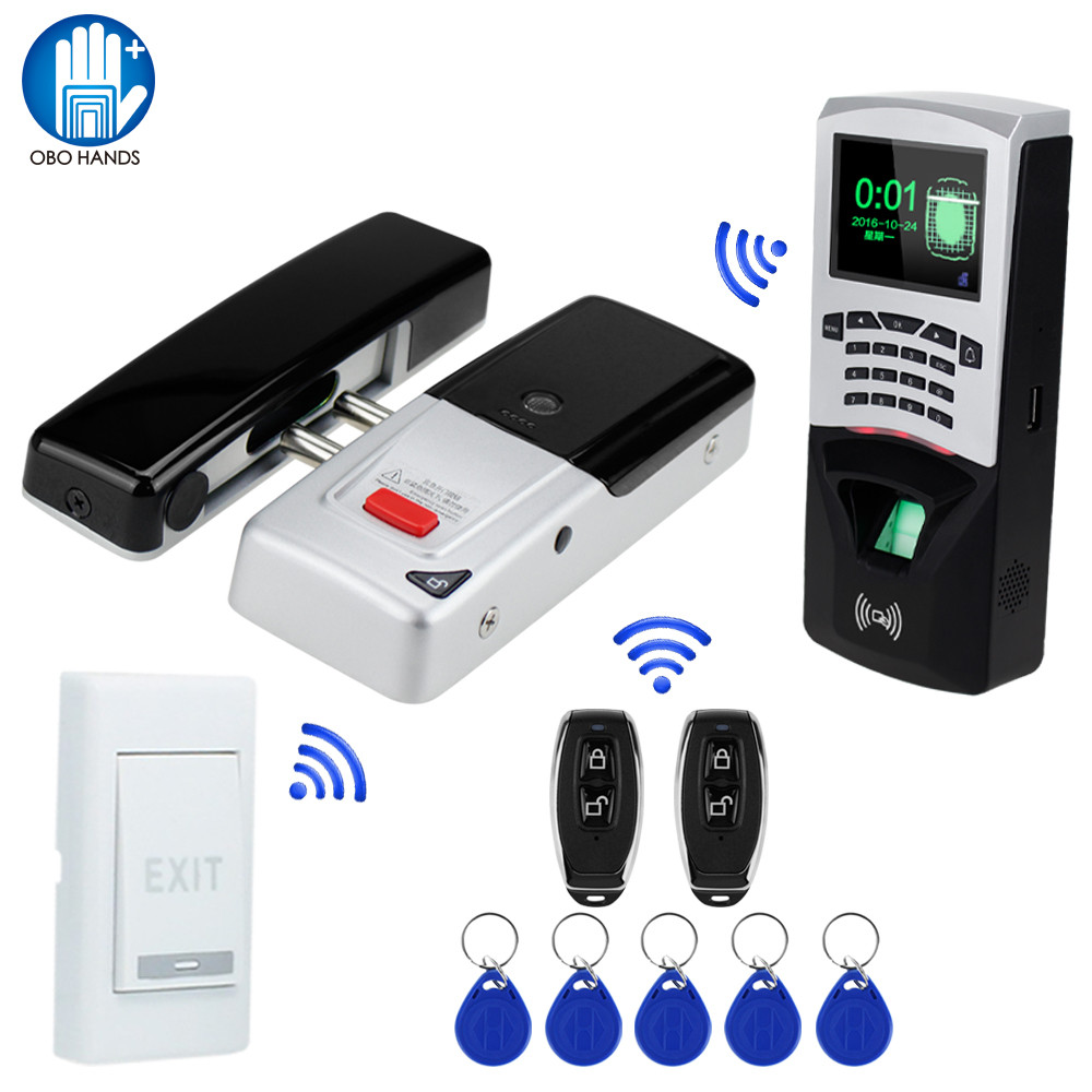 New Arrival 433MHz Wireless Electric Lock Remote Control Mortise Lock With RFID Keypad Fingerprint Attendance Machine Keychains t handle vending machine pop up tubular cylinder lock w 3 keys vendo vending machine lock serving coffee drink and so on
