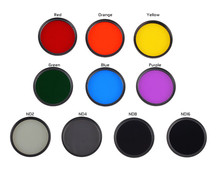 Camera Filter 46mm Gradient Full Red Orange Yellow Green Blue Purple ND2 ND4 ND8