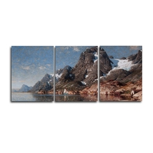3 Panel Natural Mountain Posters and Prints Wall Artworkwork Canvas Painting Living Room Nordic Home Decoration