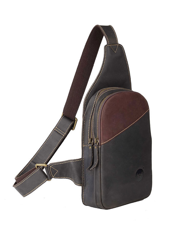 2017 hot-selling craze horse leather man bag women's handbag chest pack waist pack messenger bag first layer of cowhide #0725-1 hot selling crazy horse leather man bag vintage casual first layer of cowhide handbag one shoulder cross body computer bag 0201