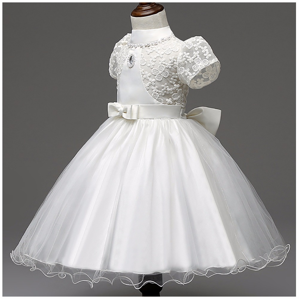 Embroidered Flower Girl Dress Summer Children Clothes Lace Princess Kids Pageant Party Wedding Bridesmaid Ball Gown Prom Dresses girls dresses 2017 summer new lace speaker sleeves children dress cute embroidered girl dress floral child ball gown party dress