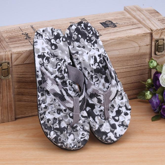 2019 Men Slippers Beach Shoes Summer Camouflage Flip Flops Shoes Sandals Slipper Indoor & Outdoor Flip-flops New 1.84