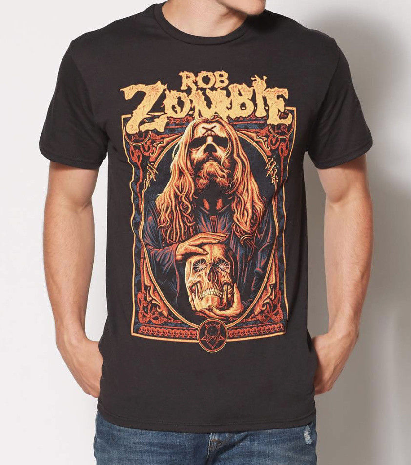 Rob Zombie Warlock Rob Zombie T Shirt New 100% Authentic & Official Rare Short Sleeve Fashion Summer Printing Casual