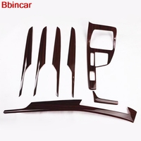 Bbincar ABS Carbon Fiber Wood Special Paint Interior Front Gear Shift Panel Inner Side 4 Door For BMW X1 F48 2016 2017 2018 LHD