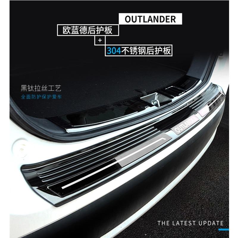 Steel Rear Bumper Protector sill plate cover For Mitsubishi Outlander 2014 2015