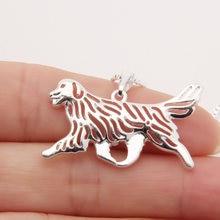 Золотой ретривер движение ожерелье 3d вырезанный Щенок Собака