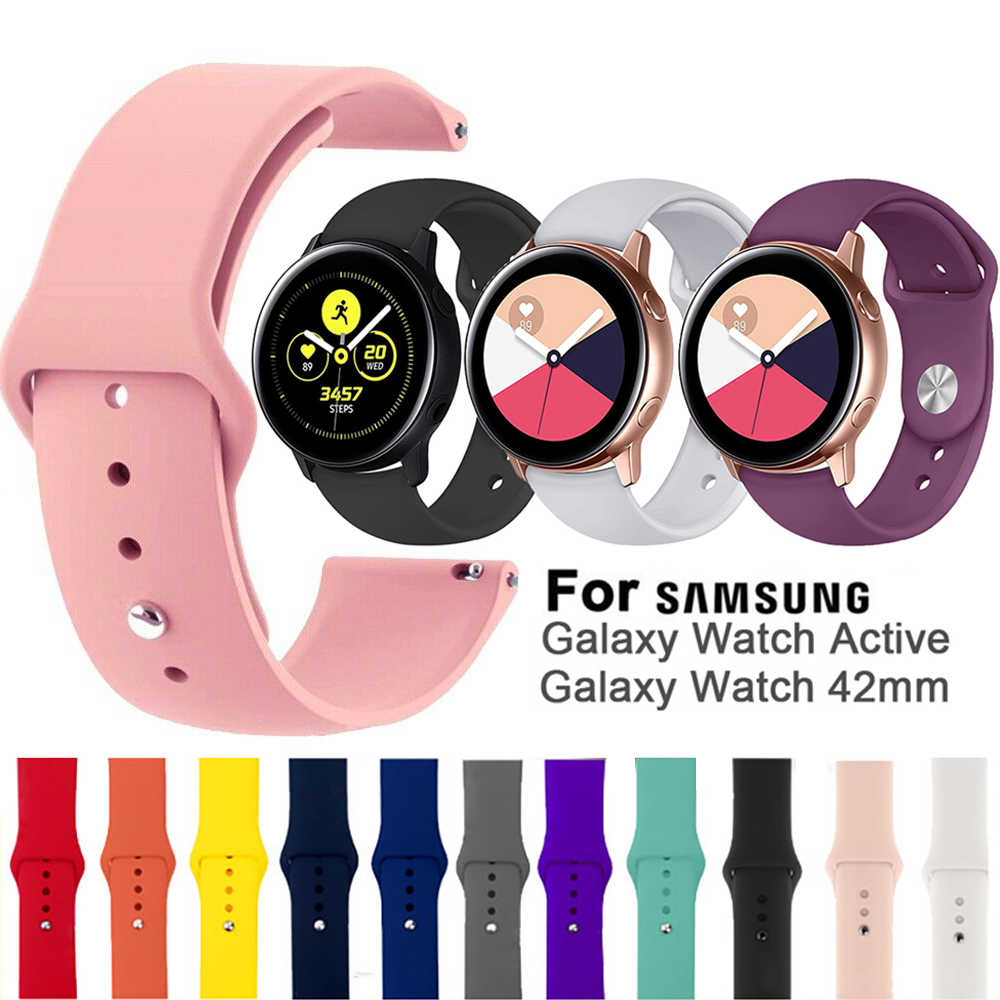 Nieuwe Soft Sport Rubber Vervanging Watch Band Quick Release Siliconen Armband Band 20mm Voor Samsung Galaxy Horloge Actieve 42mm