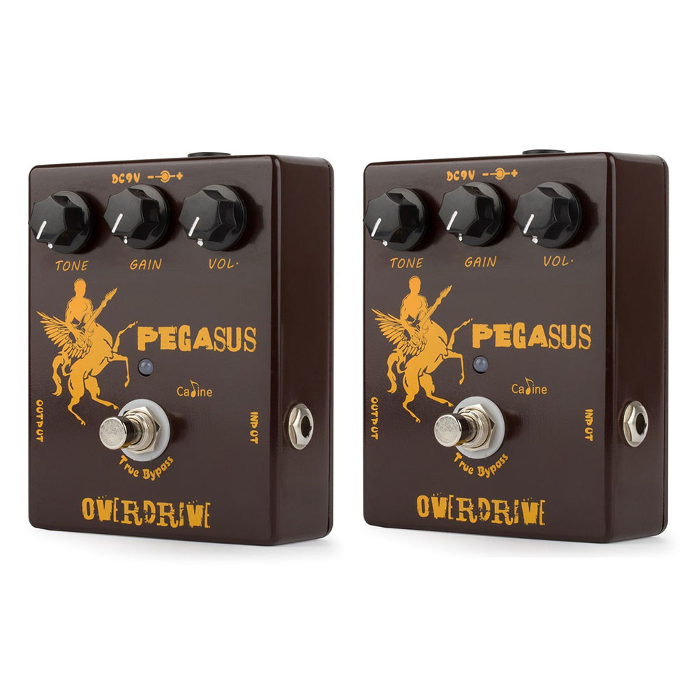 2pcs NEW Caline CP-43 Pegasus Overdrive Guitar Effect Pedal With True Bypass Guitar Parts Aluminum Alloy Housing mooer ensemble queen bass chorus effect pedal mini guitar effects true bypass with free connector and footswitch topper