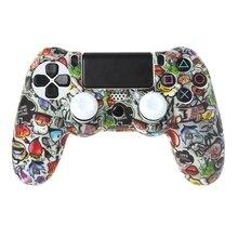 Gamepad Controller Beschermhoes Siliconen Mouwen Guards + 2 Grip Caps Voor PS4