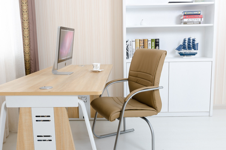hotel enterpise black chair free shipping Khaki color office stool bow shape chair PU seat