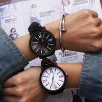 Romantic Big Dial Watch Leather Band Fashion Cute Wristwatch Drop Shipping Quartz Watches Women Clock relogio feminino