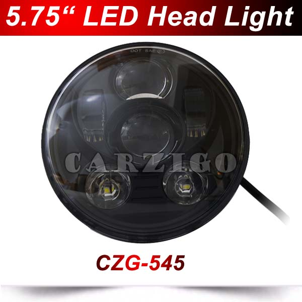CZG-545 Black 5.75 5 3/4 LED Headlight for Harley Davidson motorcycles 5.75 inch round H4 Motorcycle led Head light Hi/Lo beam harley motorcycle 7 inch orange motorcycle headlight 4 5 fog daymaker hid led light bulb headlight for harley davidson