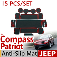 For Jeep Compass 2011 2012 2013 Anti Slip Rubber Cup Cushion Door Mat Jeep Patriot Liberty