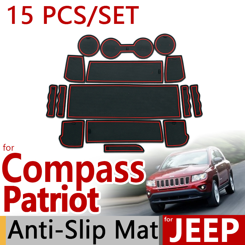 for Jeep Compass 2011 2012 2013 Anti-Slip Rubber Cup Cushion Door Mat Jeep Patriot Liberty 2014 Accessories Car Styling Sticker for jeep compass 2011 2012 2013 anti slip rubber cup cushion door mat jeep patriot liberty 2014 accessories car styling sticker