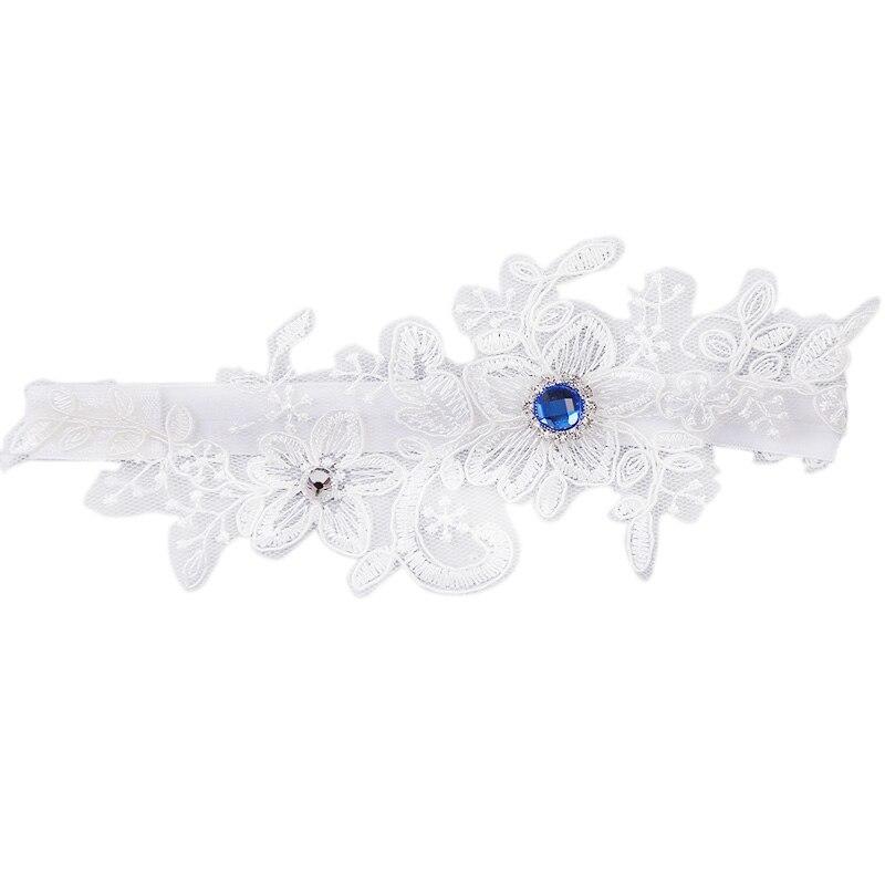Women's Intimates Thigh Ring Bridal Leg Gart Price Remains Stable Underwear & Sleepwears New Hot Wedding Garter Blue Rhinestone White Embroidery Floral Sexy Garters For Women/female/bride