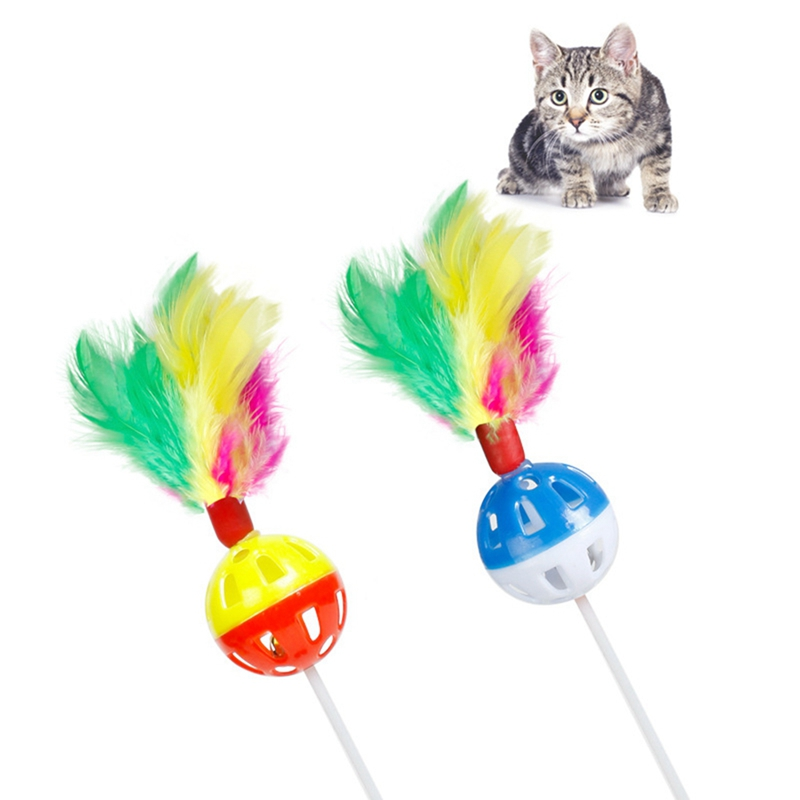 1pcs Funny Cat Toys Color Feather Bell Bottom Sucker Toys For Cat Kitten Playing Pet Seat Scratch Toy Pet Cat Product