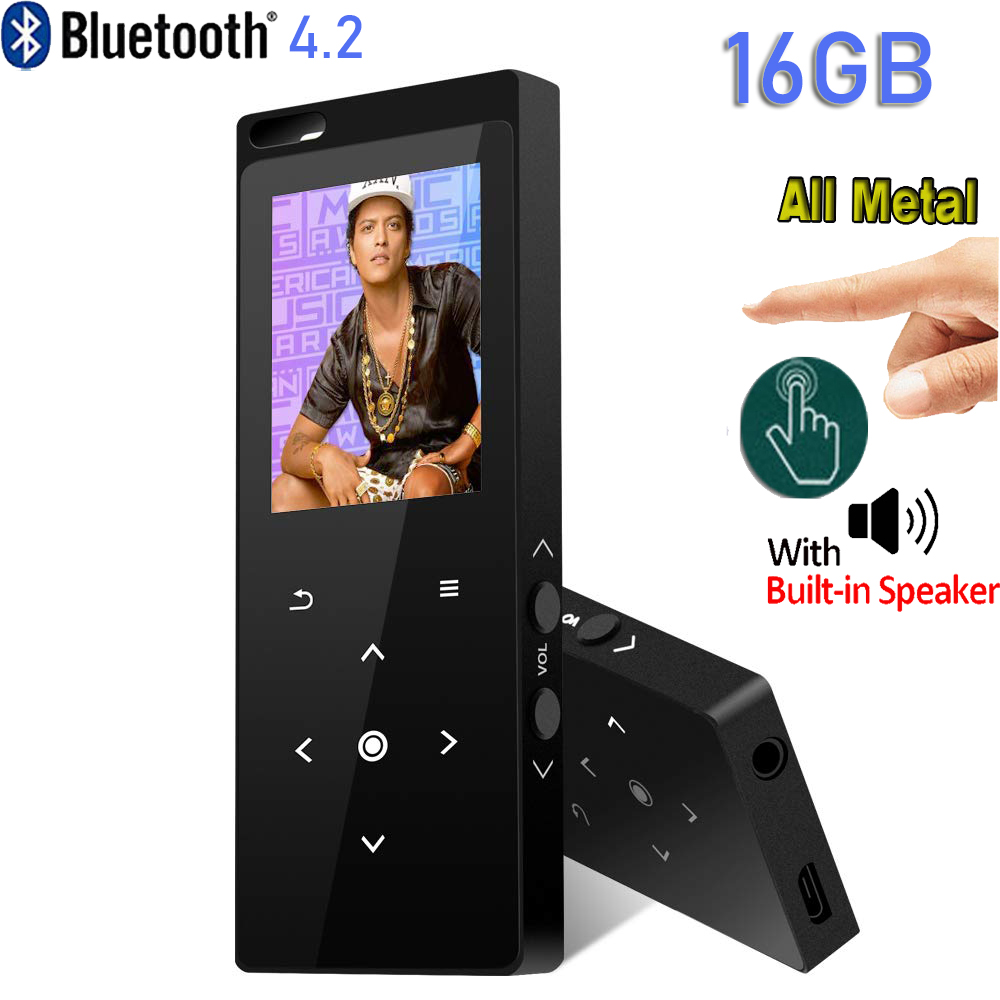 MP3 Player With Bluetooth 4.2 CHENFEC 16GB Portable Lossless Sound Metal Music Player With FM Radio Voice Recorder Music Speaker