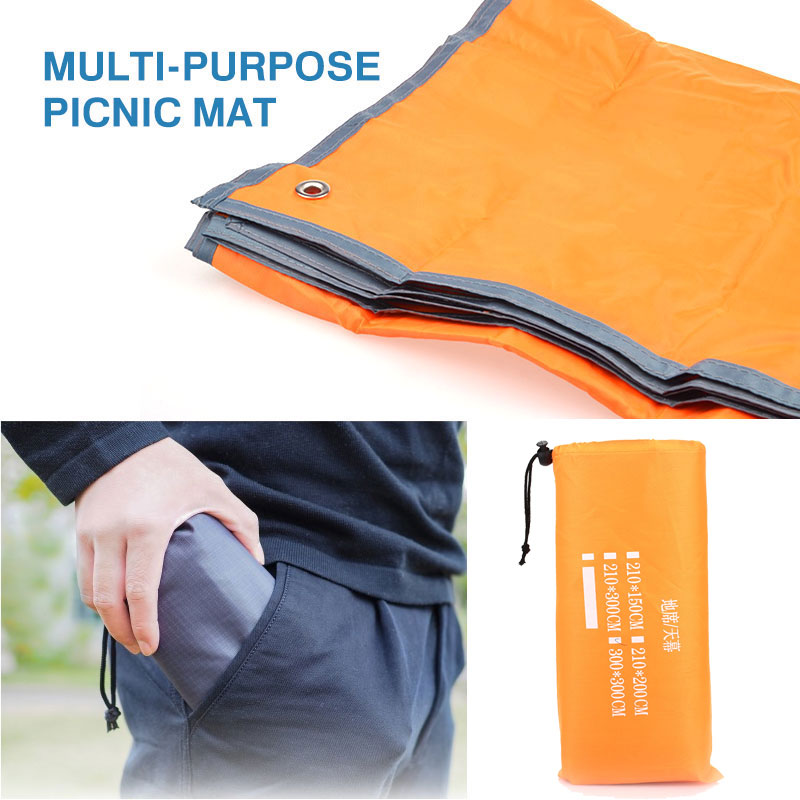 300*300cm Camping Carpet Folding Picnic Mat Large Sandless Backing Tent Cloth Camping Canopy Lawn Floor Pad Beach Mattress