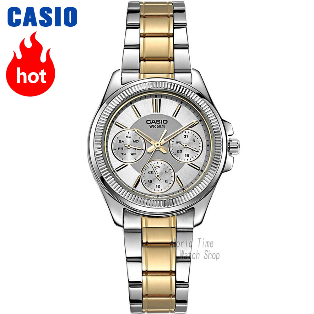 Casio watch Fashion casual quartz watch LTP-2088RG-7A LTP-2088D-7A LTP-2088D-1A LTP-2088SG-7A summer fashion womens denim pants ripped hole jeans stretch knee length jeans sexy torn femme skinny body jeans