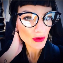 MARC WOMEN MEN Reading Optical Black Plain glass spectacles glasses Literature and art retro classic Plastic