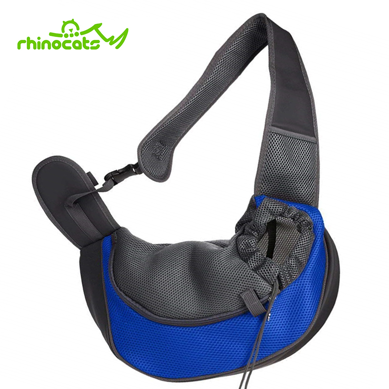 Dog Sling Carrier for Pet Cat Breathable Mesh Single Shoulder Travel Carrying dog Bag Backpack for Puppy Chihuahua Animal Kitten