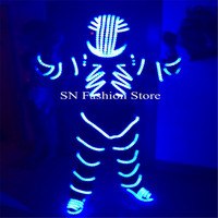 Hot Sale LED Luminous Costume Illuminated Suit For Night Clubs Party KTV Show Stage Costumes Clothing