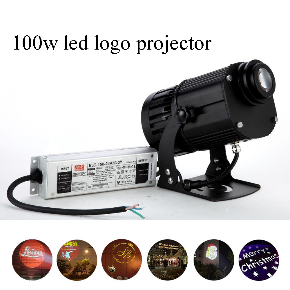 Lumière extérieure imperméable de gobo de projecteur de logo LED de 100 w pour la publicité